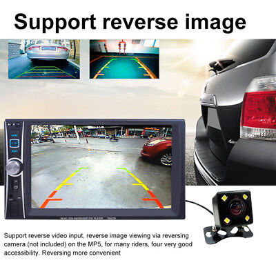7''Double 2DIN Car DVD Player Bluetooth MP5/Audio/Video/USB Rearview&Camera