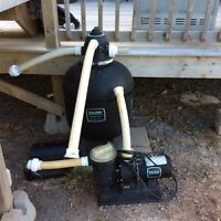 Sand filter and pump