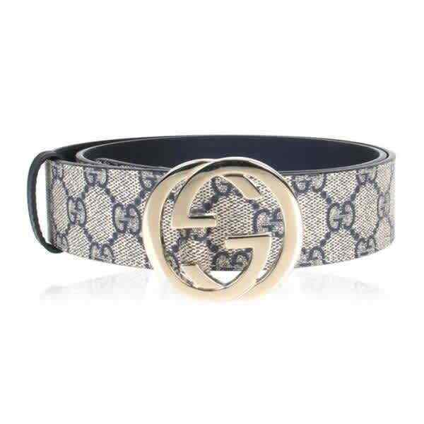 Gucci Gg Supreme Pattern Belt with G Buckle