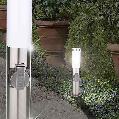 Mia Light Lámpara Pedestal / COLUMNA CON tomacorriente / Luz bolardo