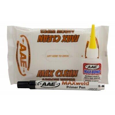 Arrow Fletching Glue Kit Vane Adhesive Primer Pen Arrow Wipe Max Bond Glue AAE