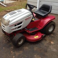 White lawn tractor/mower  16hp 42""