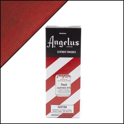 Angelus RED Leather Dye 3 oz. with Applicator for Shoes Boots Bags NEW ()