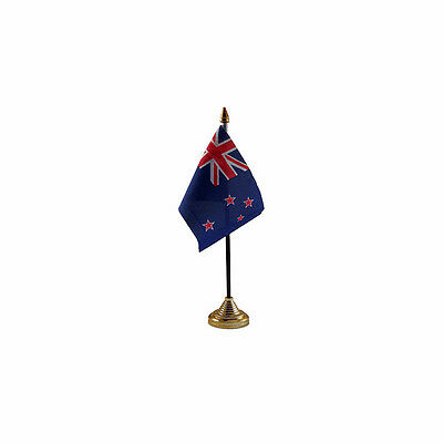 New Zealand Table Desk Flag - 10 x 15 cm National Country Hand Oceania