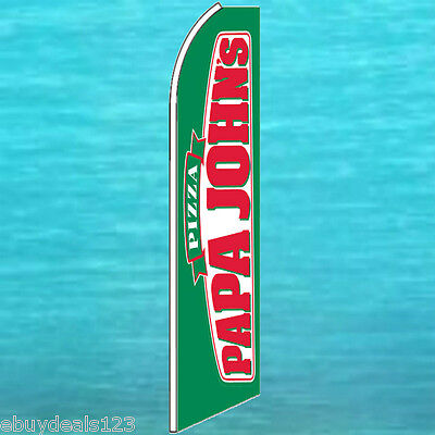 Papa Johns Pizza Flutter Flag Vertical Advertising Sign Feather Swooper Banner