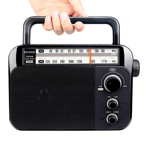 Retekess Portable FM/AM Radio Receiver Speaker Tuning Handle for the Elderly US