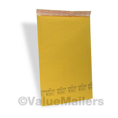 4 200 9.5x14.5 Kraft Ecolite 100 Usa Bubble Mailers Envelopes Bags Self Seal