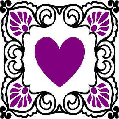 30 Custom Purple Passion Heart Personalized Address Labels