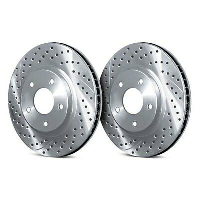 For Dodge Ramcharger 80-93 Drilled & Slotted Vented 1-Piece Front Brake Rotors
