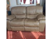 Harvey's Mellissa 2 seater recliner sofa/settee camel/ fawn colour