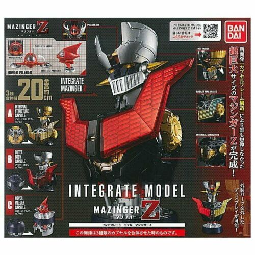 NEW BANDAI MAZINGER Z INTEGRATE MODEL Set of 3 Capsule Toy Figure