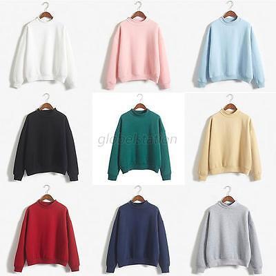 Korean Women Fashion Hoodie Sweatshirt Casual Hooded Coat Pullover Tops Jacket