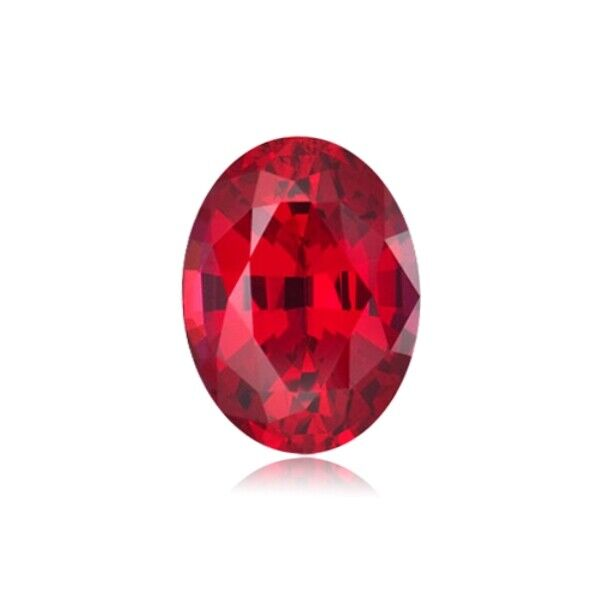 7.53 Cts of 14x10 mm AAA Oval Cut Swiss  Synthetic Corundum Ruby Loose Gemstone