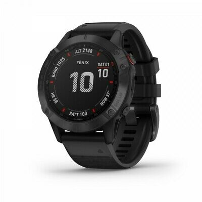 Garmin Fenix 6 Pro Black Multisport GPS Watch with Black Band 010-02158-01