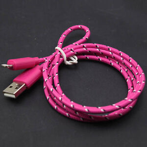 iPhone 5 and 6 Braided Colored Data Cords (3 meters) St. John's Newfoundland image 1