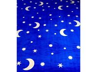 King size blanket bed throw MOON AND STARS very soft and warm