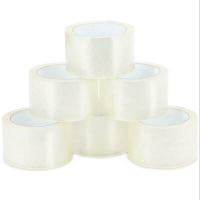 18 Rolls Carton Sealing Clear Packing Tape Box Shipping - 2-inch x 55 Yards