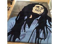 Bob Marley icon rug 100% wool