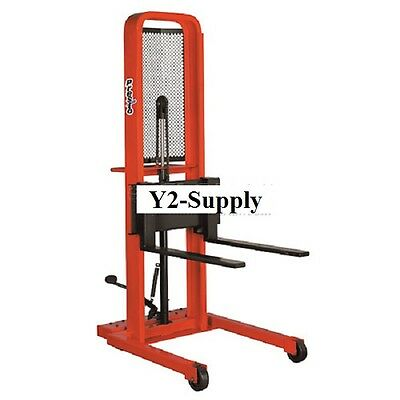 NEW! Hydraulic Stacker Lift Truck M252 1000 Lb. with Adj. Forks!! ()