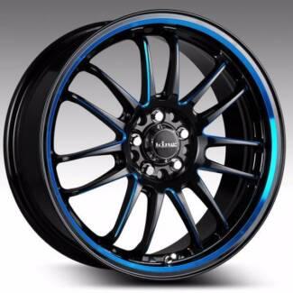 AMAZING SALE!!! - 17x7 Kings Wheels DRIFTA Blue GREAT GOING CHEAP Alexandria Inner Sydney Preview