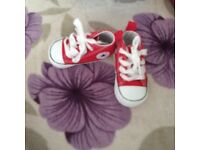 Red converse size 1