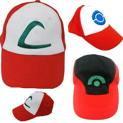 Pokemon Ash Ketchum Hat Cap Baseball Adult Cosplay One Size Halloween Party - Pokemon Hat