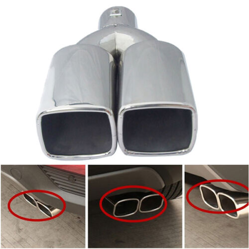 1 PC 2.5 Silver Stainless Steel Inlet Auto Car Tail Rear Pipe Tip Muffler Cover
