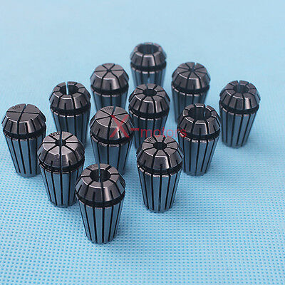 New 12pcs Er16 Spring Collet Set 132-38 For Cnc Milling Lathe Tool Engraving