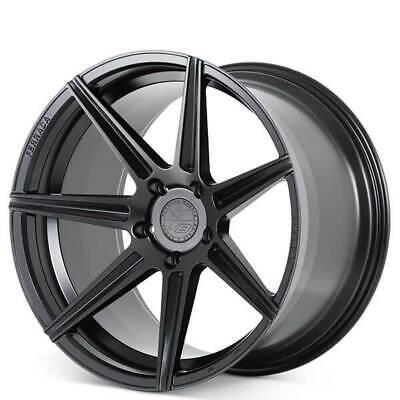 """(4) 20"""" Staggered Ferrada Wheels F8FR7 Matte Black Rims Fit Maserati (B2)"""