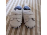 Baby Shoes White Trainers 6 to 9 months Excellent like new condition