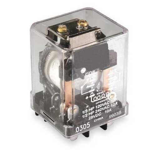 Dayton 1EHY1 Relay Latching, DPDT 16A, 240V AC, Single Coil Volts. NEW