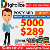 5000 Flyers $289 (Reg.$350)  full color two sides + Free Ship