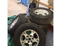 Mitsubishi Shogan Nissan patrol Toyota Land Cruiser wheels alloy