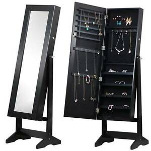 146cm Black Jewellery Mirror Cabinet Storage Box Organiser Dandenong South Greater Dandenong Preview