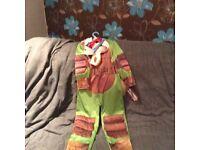 Turtles fancy dress costume age 5-6