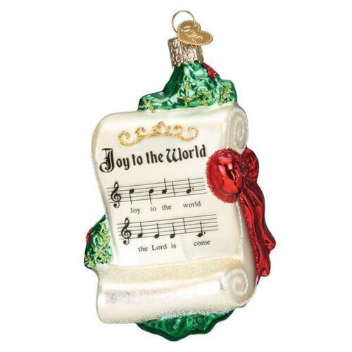 """Joy to the World"" (38056)X Old World Christmas Glass Ornament w/OWC Box"