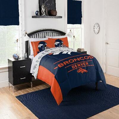 NFL Denver Broncos Monument Twin-XL Size Comforter Bedding Set Cozy Soft Navy