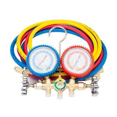 Dual Manifold Gauges Valve Set R502 R134 R12 R22hvac Ac Refrigeration Kit