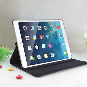 DARK BLUE 360 ROTATING PU LEATHER CASE COVER FOR IPAD MINI 1 2 3