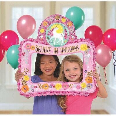 MAGICAL UNICORN INFLATABLE SELFIE FRAME ~ Birthday Party Supplies Favor Decor](Magic Birthday Supplies)