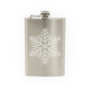 Snowflake-Pattern-3-Winter-Art-Christmas-Decoration-8-oz-etched-flask