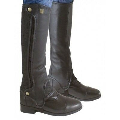 Ovation Ladies Full Grain Leather Precision Half Chaps/Stretch Leather -