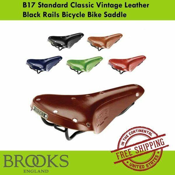 Honey Vintage Classic Retro Genuine Leather Road Touring Bicycle Saddle