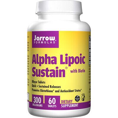 Alpha Lipoic Sustain 300 + Biotin, 300mg x 60Tabs, Hair, Skin, Jarrow...