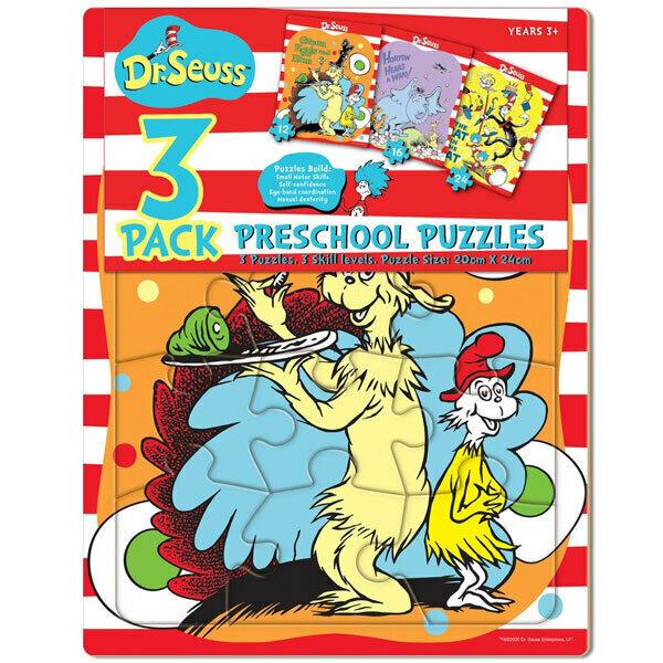 3PK Dr Seuss Preschool 30x23cm Jigsaw Puzzle Kids/Child Educational Toy 3y+ Asst