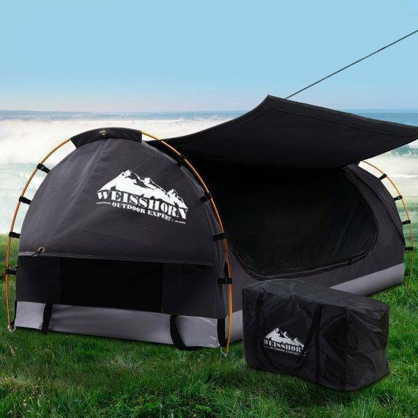 Camping Swags Canvas Free Standing Dome Tent Dark Grey Camping Hiking Gumtree Australia Inner Sydney Sydney City 1257668065