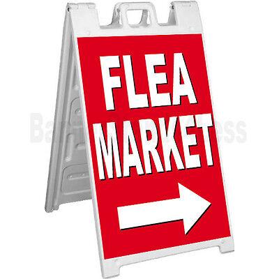 Signicade Flea Market A-frame Sign Sidewalk Sandwich Pavement Sign - Rb