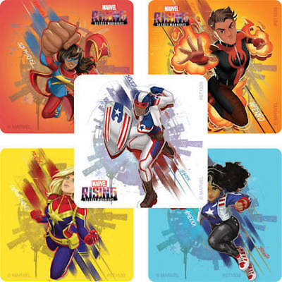 25  Marvel Rising Secret Warriors Heroes stickers  party favors teacher supply  - Marvel Heroes Party Supplies