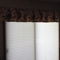 Beautiful custom made valances for living or bedroom areas