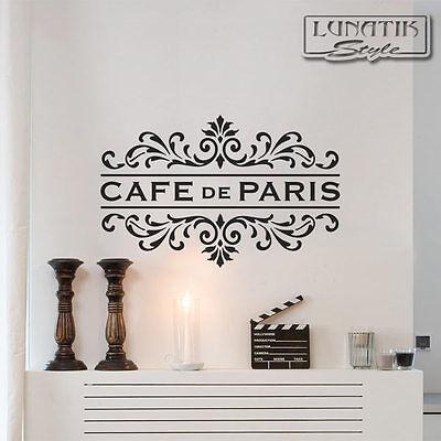 Wandtattoo Cafe de Paris Schriftzug mit Ornament - WS87